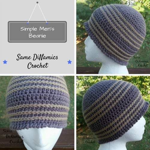 Simple Mens Beanie Free Crochet Pattern Same Dinamics Crochet
