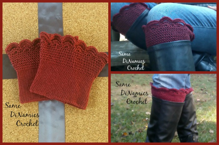 Step out in style this Fall with these Arched Fans Boot Cuffs