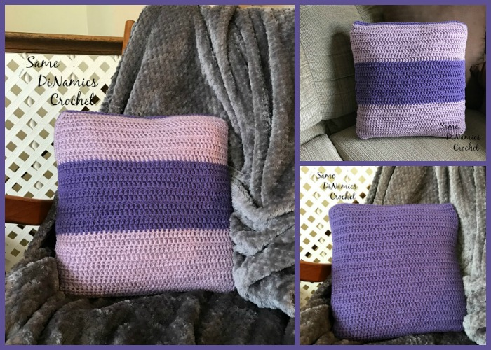 The Color Block Pillow Cover works great as a quick project for when you want a different look to your home's decor.