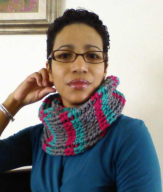 Cables & Stripes Cowl - Contributed Pattern