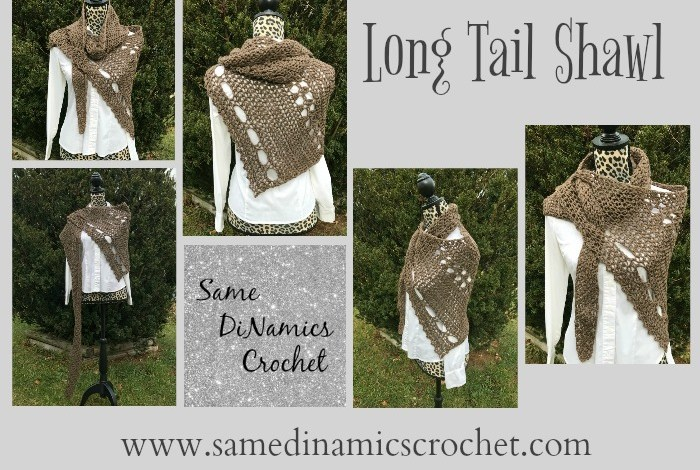 Long Tail Shawl Free Crochet Pattern