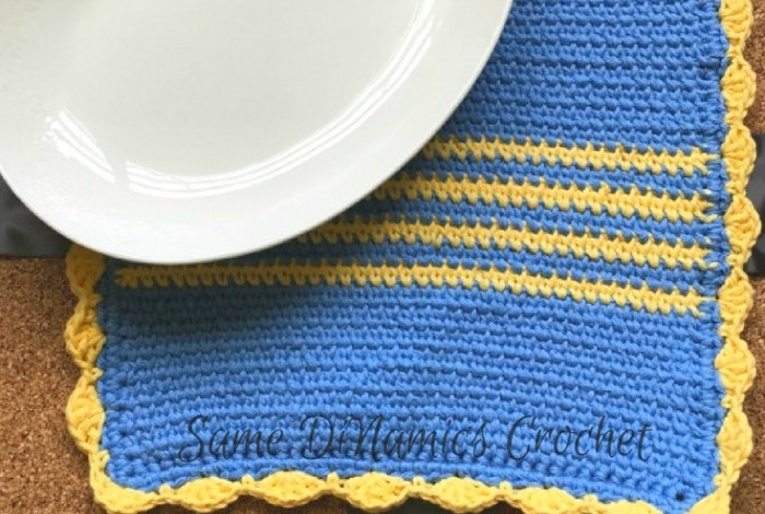 Drops of Sunshine Trivet Hot Pad Free Crochet Pattern