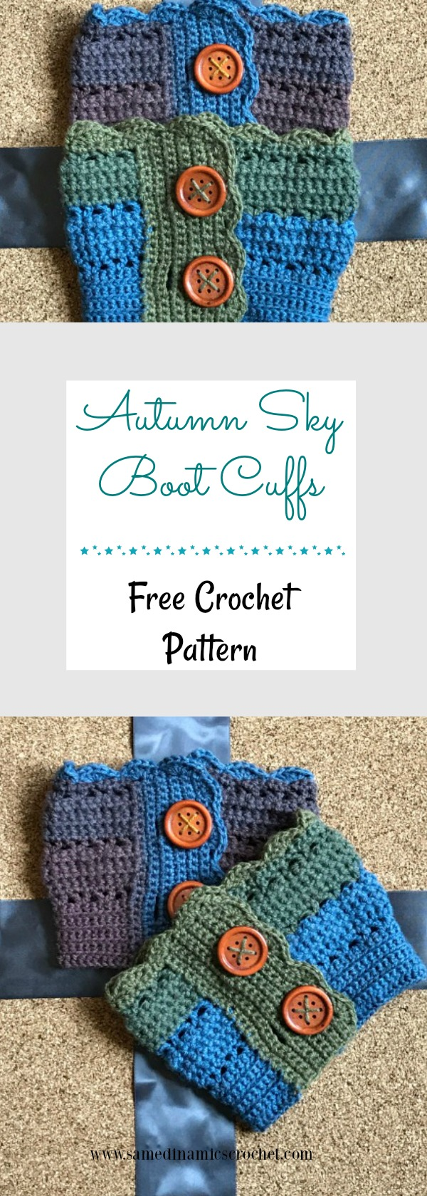 The Autumn Sky Boot Cuffs is the latest installment in the Autumn Sky series. These boot cuffs are meant to complete and complement the Autumn Sky Cow and Hat.