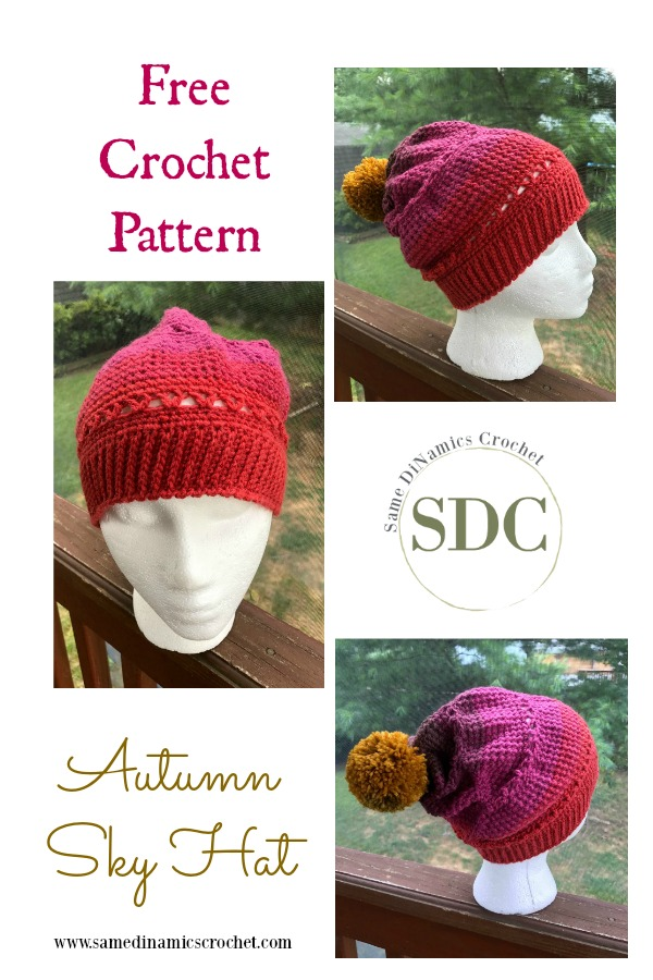 This Autumn Sky Hat will complement your Autumn Sky Cowl perfectly! Made with the same stitch design and yarn, it lends itself wonderfully to your casual style.