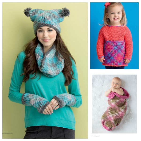 Gorgeous Yarn Pooling patterns that can be found in Yarn Pooling Made Easy by Marly Bird.