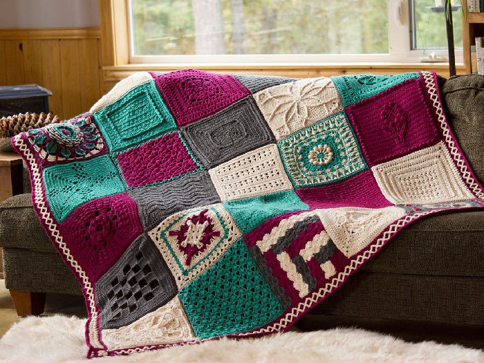 Creative Crossings Blanket Free Crochet Square Pattern Designs
