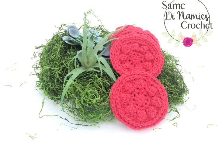 Coral Blossoms Face Scrubbies Free Crochet Pattern