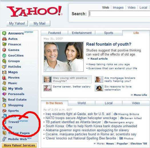 Yahoo! Travel updated
