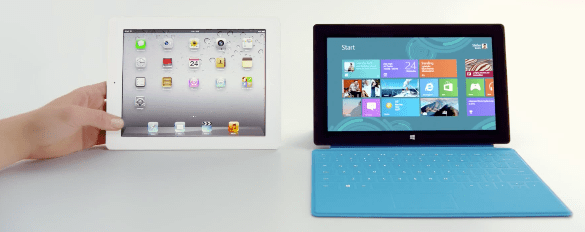 iPad and Surface RT side by side