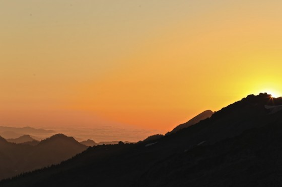 Sunset from Mt Rainier