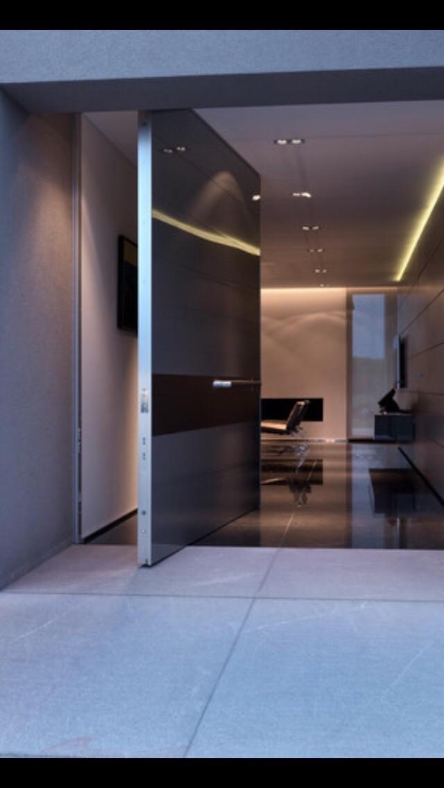 High Glossy Black Front Door