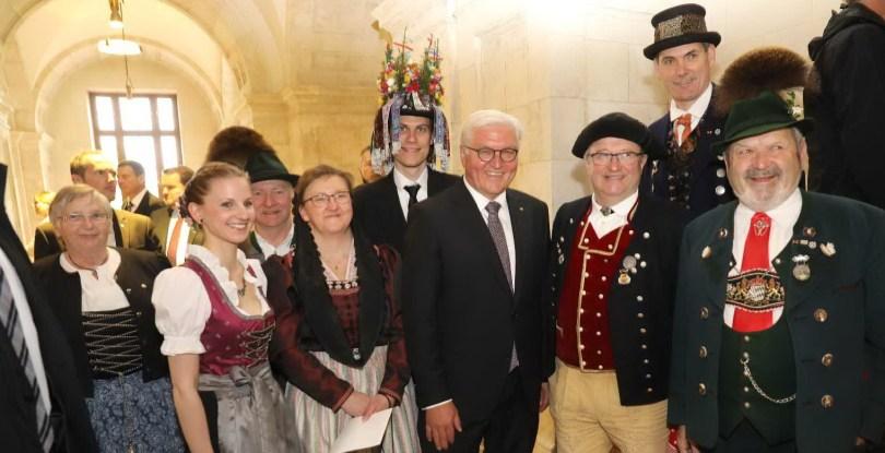 Bundespräsident Frank-Walter Steinmeier mit Landesvorsitzenden Max Bertl