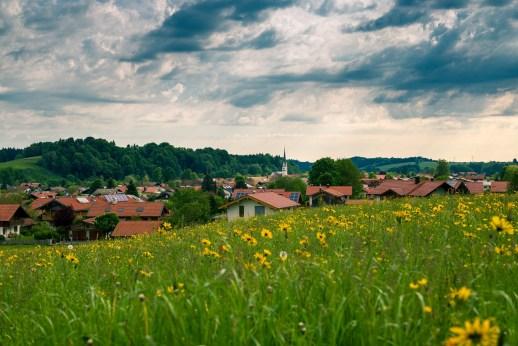 Blick auf Frasdorf