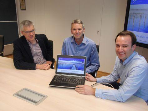 Philipp Bernhofer, Raimund Auer und Christoph Osterhammer präsentieren die neue Homepage