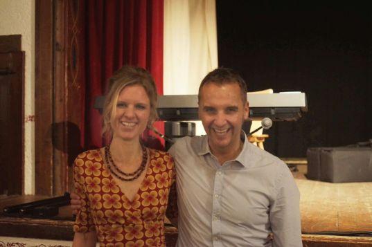 Stefan Kröll mit Dr. Anna Schreiber von Eventagentur KULTOUREN am Samerberg