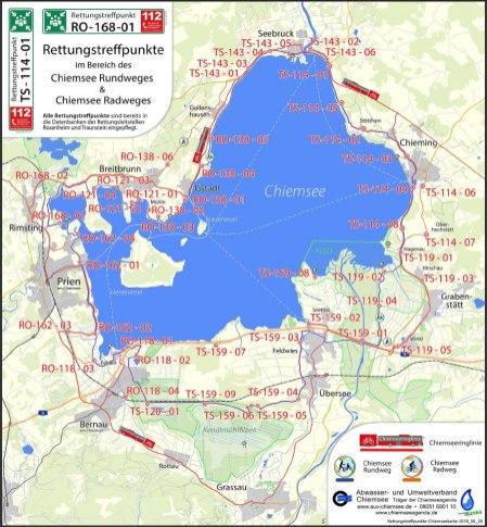 Chiemsee Karte Pdf.Chiemsee Rundweg Rettungstreffpunkte Fertiggestellt Samerberger