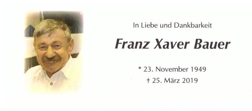 Sterbebild Franz-Xaver Bauer 1