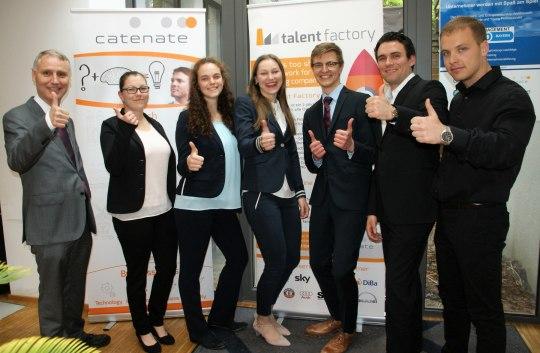 Das Team der Rosenheimer Wirtschaftsmathematik-Studierenden, das bei Catenate den 2. Platz belegte