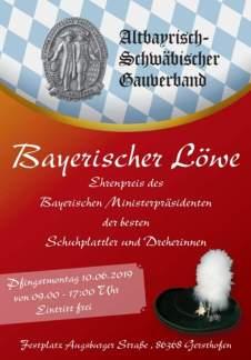 Plakat Bayerischer Loewe
