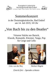 Plakat Sommerkonzert
