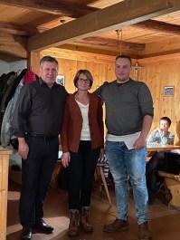 Wolfgang und Monika Sattelberger mit Lukas Weiberg