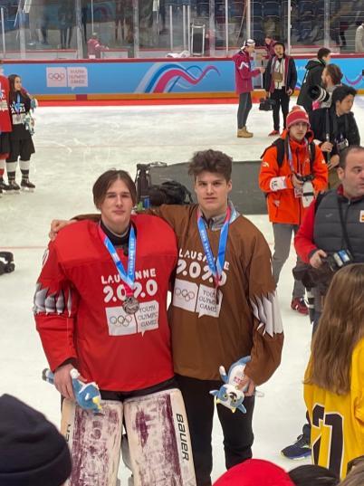 Matthias Bittner (links) gewann die Silbermedaille