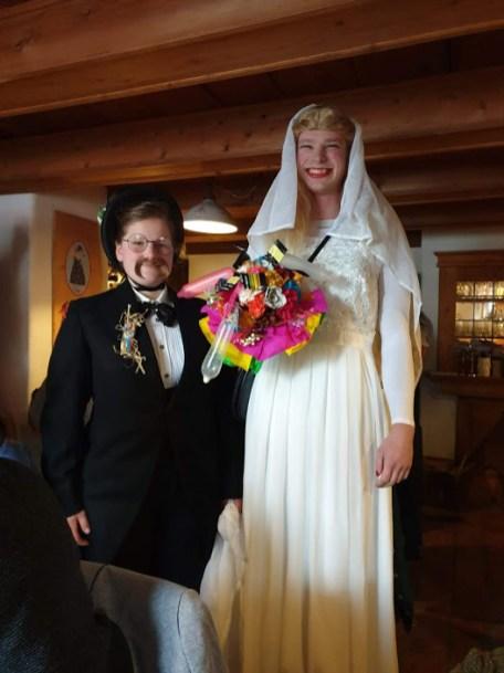 Bettlhochzeit Waakirchen Brautpaar