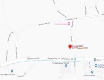Google Maps-Ausschnitt, die die Lage des Gaufestes zeigt