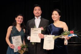 Ketevan Chuntishvili (2 Preis und Publikumspreis) Yisae Choi (1 Preis) und Hyunju Mun (3 Preis) (c) Immling Festival - Nicole Richter