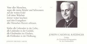 60. Geb. Kardinal Ratzinger 1