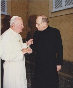 Papst JPII und Hillengass 1997 in BiH