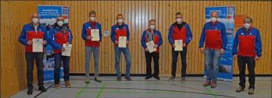 v.l.n.r.: Franz Sanftl, Franz Heider, Josef Hunger, Lorenz Steiner, Christian Heiß, Siegfried Stuffer, Matthias Pummerer und Rudolf Weber