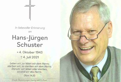 kl-Sterbebild Schuster Hans-Jürgen 1