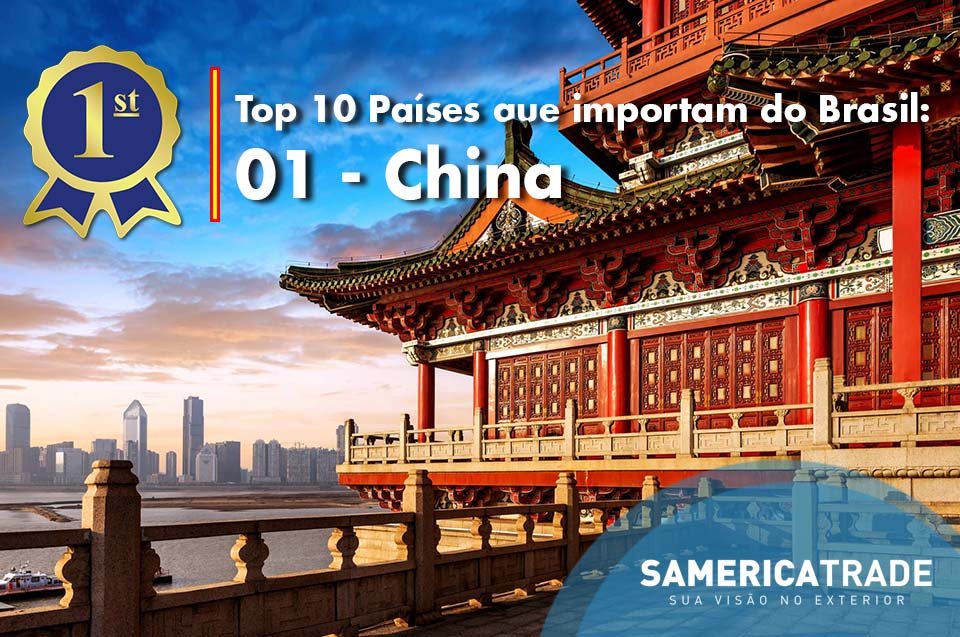 Top 10 países exportadores: 1 – China