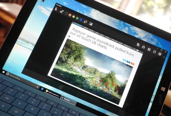Microsoft'tan yeni ekran görüntüsü aracı Snip