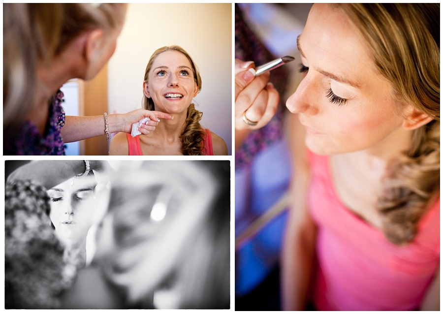 Documentary Wedding Photography, bridal make-up