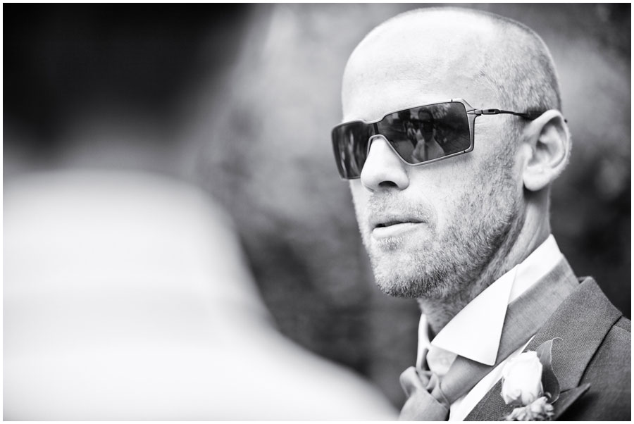 River Cottage Wedding Photography guest with sunglasses