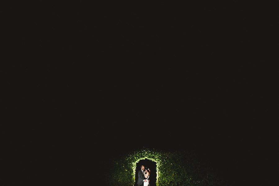 bride and groom portrait at night by sam gibson