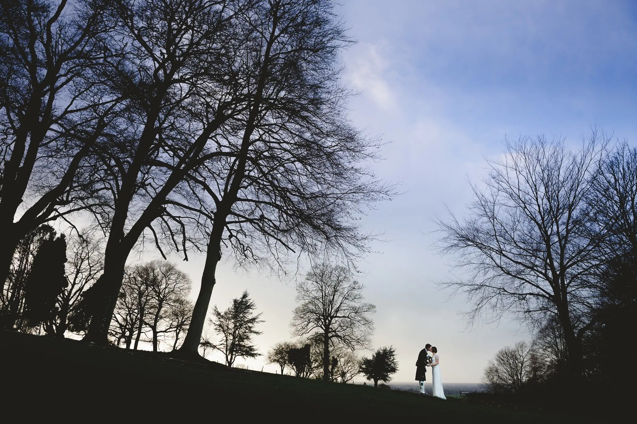 A winter wedding at Coombe Lodge