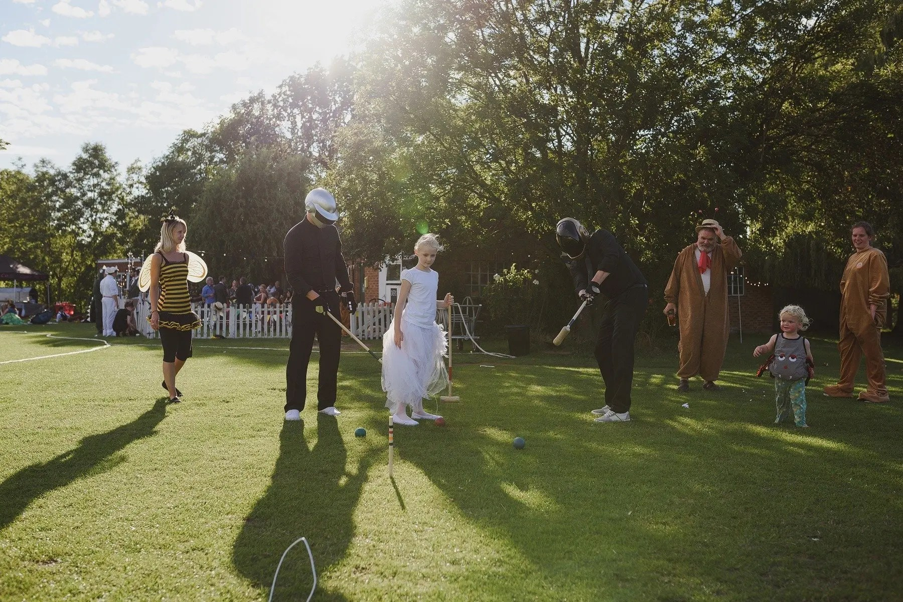 daft punk playing croquet