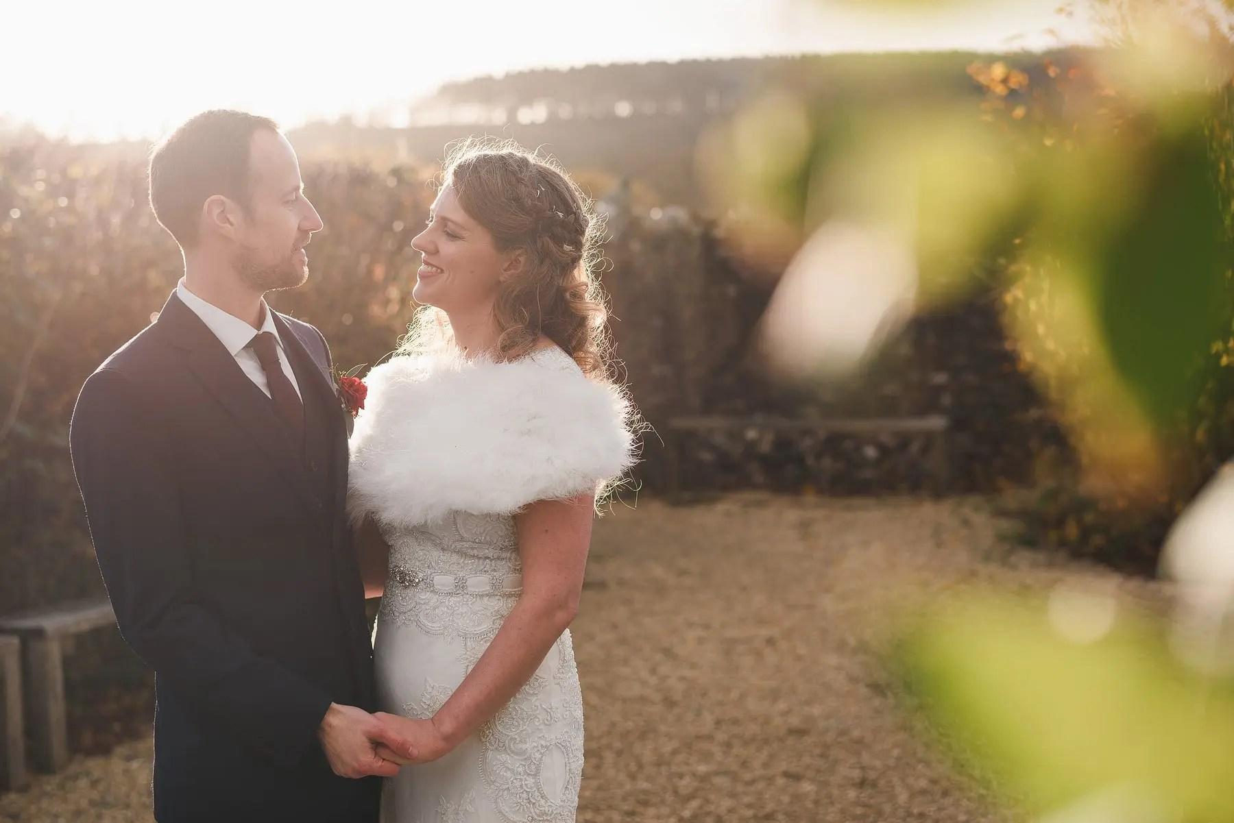 winter wedding at river cottage