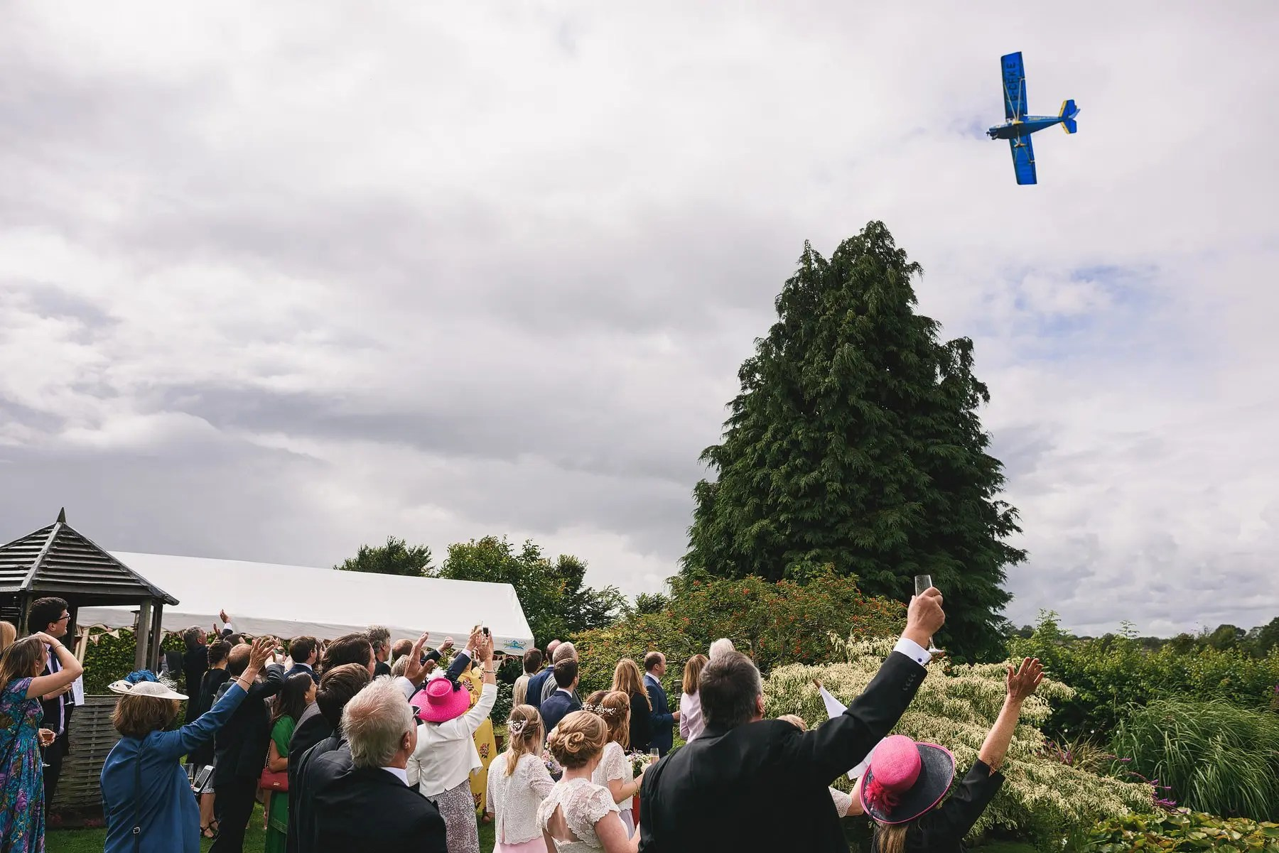 fly by at a wedding