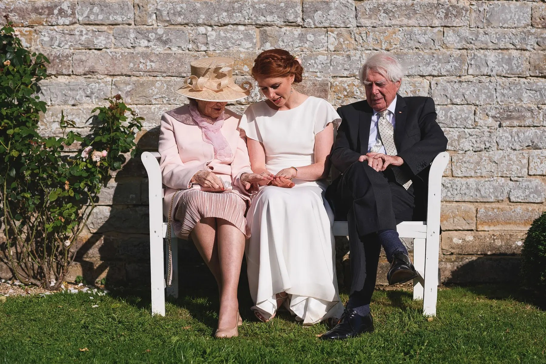 almonry barn bride with grandparents
