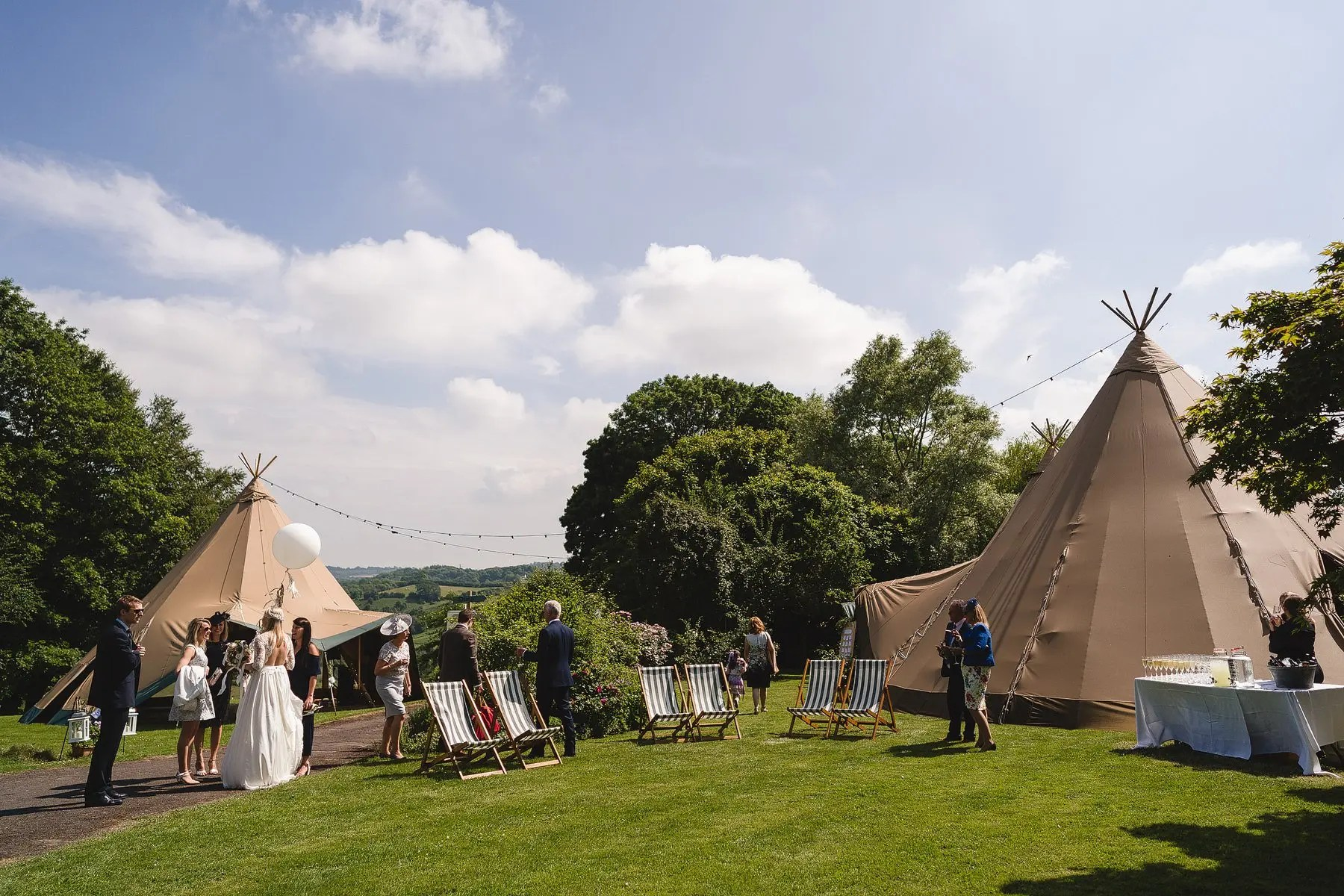 tipi wedding at the grange in belluton