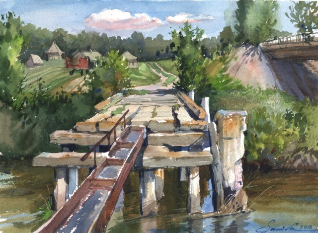 iws watercolor Old Bridge