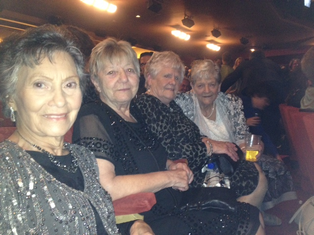 The original Ford workers at opening night: l-r Gwyn Davies, Sheila Douglass, Eileen Bullen, Vera Sime (photo copyright Samira Ahmed)