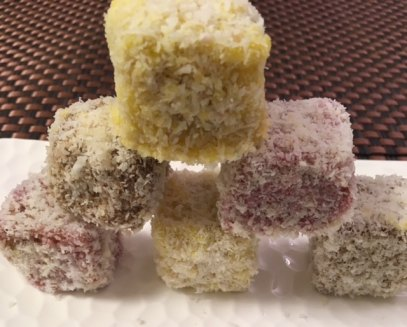 Lamingtons: Strawberry/Mango/Chocolate