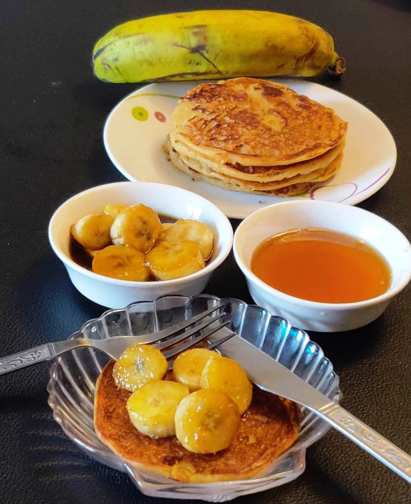 Banana Pancakes With Jaggery
