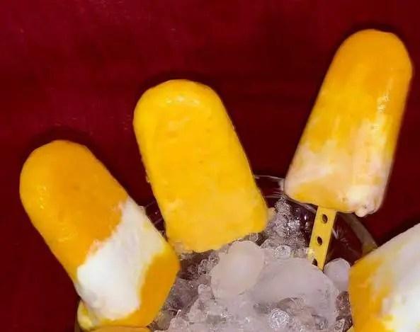 Mango Yogurt Lollies, Guilt-Free Mango Yogurt Lollies