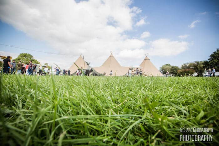 Sami Tipi Wedding Fair at Bridge House Barn Leicestershire - by Richard Murgatroyd Photography